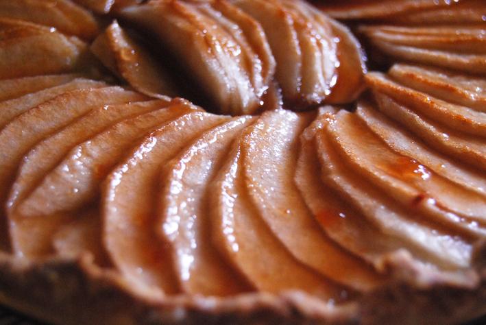 Zoom sur la tarte aux pommes