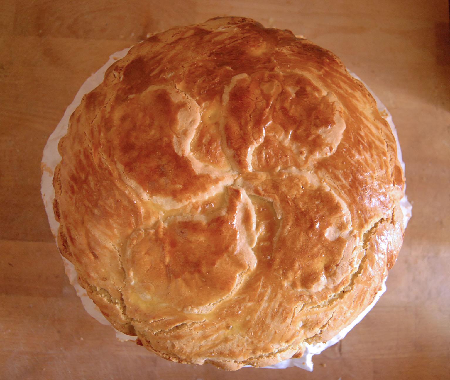 Aperçu du gateau basque après cuisson