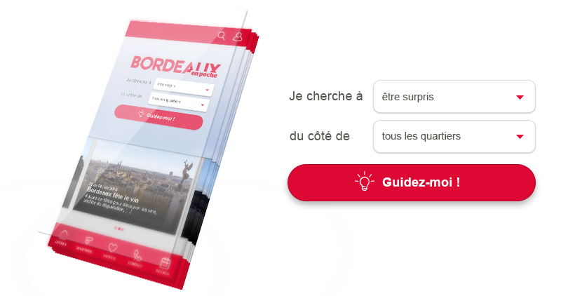 Application mobile pour la ville de Bordeaux
